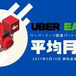 Uber Eats(ウーバーイーツ)の平均月収はいくら?新料金体系で検証